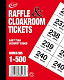 Cloakroom Raffle Tickets 1-500 [Office Product]