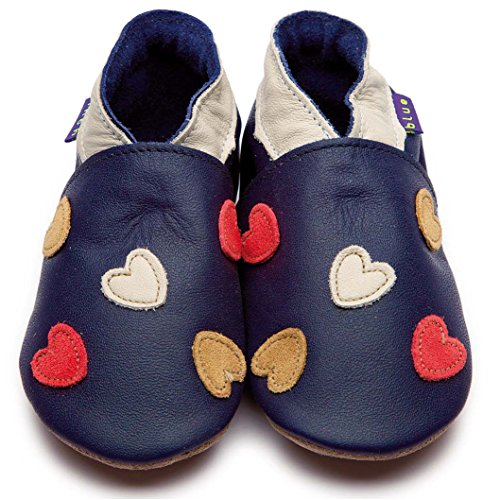 Inch Blue Krabbelschuhe Cariad Navy/Cream/Coral, Child Extra Large
