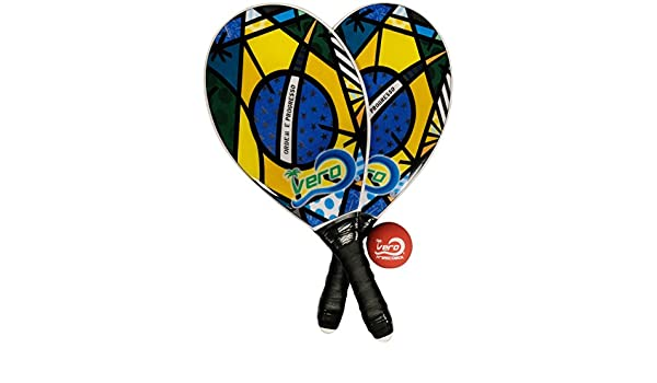 Amazon.com : Frescobol Fiberglass Beach Paddleball Paddle ...