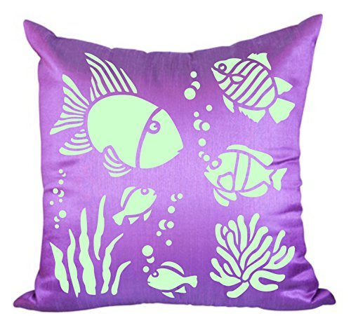 (TROPICAL FISH STENCIL (size 5