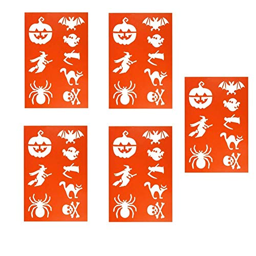 Alasida Halloween Plastic Planner Stencils Patterns Painting DIY Witch Pumpkin Spider Drawing Templates for Journal Scrapbook Diary Notebook Greeting Cards and Art Projects Gifts (5)