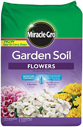 Miracle-Gro 70359430 Garden Soil Flowers, 1.5 CF