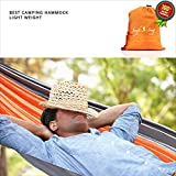Swift-n-Snug Double Hammock - Big Portable Outdoor Camping Hammock for Two - Ultralight for Travel, Hiking, Backpacking, Beach, Lake or Backyard - Swing Tree Straps with Strong Nylon Fabric