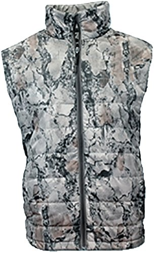 Hunting Down Vest (Natural Gear Camo Hunting Vest for Men and Women, Hunting Gear for Elk, Duck, Deer, or Hog Hunting, Women's and Men's Full-Zip Synthetic Down Camo Vest (XL))