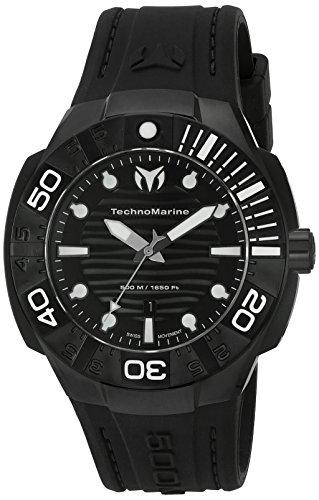 (Technomarine Men's 'Black Reef' Swiss Quartz Stainless Steel Casual Watch (Model: TM-515012))