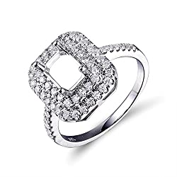 White Gold Diamond Semi Mount Ring