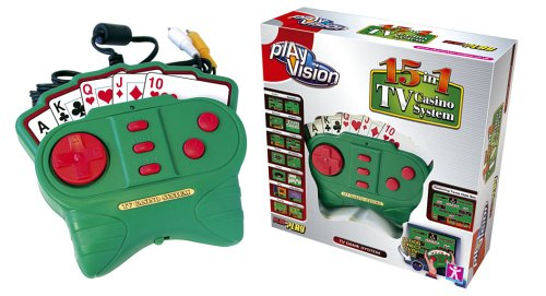 PlayVision 15-in-1 Plug-and-Play TV Casino System by Play Vision
