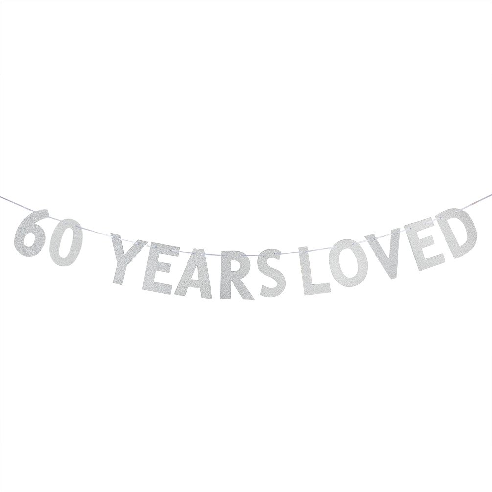 Amazon.com: 40 inch Jumbo 60th silver number balloons for Birthday ...