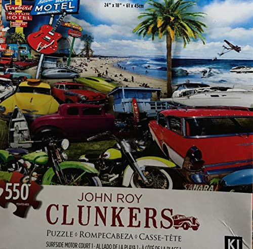 John Roy Clunkers Surfside Motor Court 550 Piece Puzzle 24 X 18 inches Karmin-International