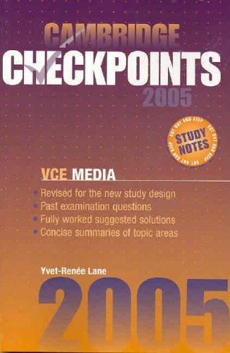 Download Cambridge Checkpoints VCE Media 2005 pdf epub