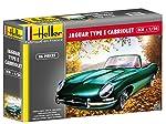 "Heller 80719"" Jaguar Type E 3L8 OTS Cabriolet Plastic Model Kit, 1:24 Scale from Heller"