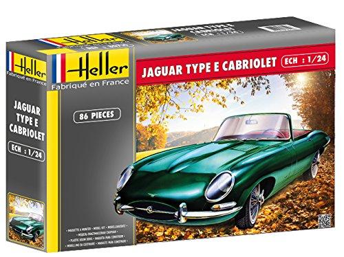 Creative Models Heller 80719 model Kit Jaguar Type E 3l8 ots Cabriolet (Vintage Plastic Kit Model)