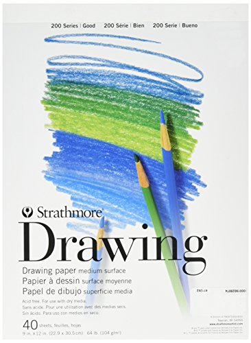 Strathmore 25-009-1 Light-Weight Drawing Pad, 9″ X 12″ Size, White