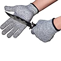 Schwer Cut Resistant Gloves-Food Grade Level 5 Safety Garden Work for Cutting, Mandolin Slicing, Wood Carving and Gardening
