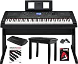 Yamaha DGX-660 88 Key Grand Digital Piano with Knox Piano Bench,Pedal,Dust Cover