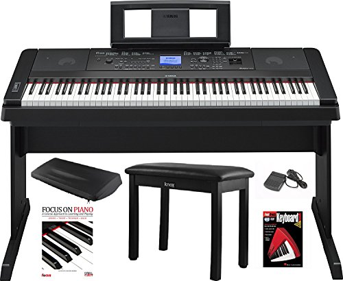 Yamaha DGX-660 88 Key Grand Digital Piano with Knox Piano Bench,Pedal,Dust Cover and Book/DVD - Stand Classical Yamaha