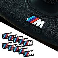 BMW M 3D Emblem Stickers volant, jantes Lot de 10?autocollants
