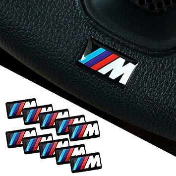 Bmw M 3d Emblem Sticker Wheel Rims Pack Of 10