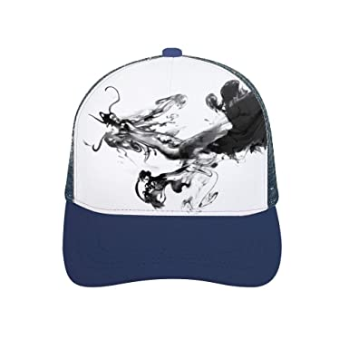 LCJMTBD Gorras de béisbol Gorra de béisbol de Goma Curva Negra ...