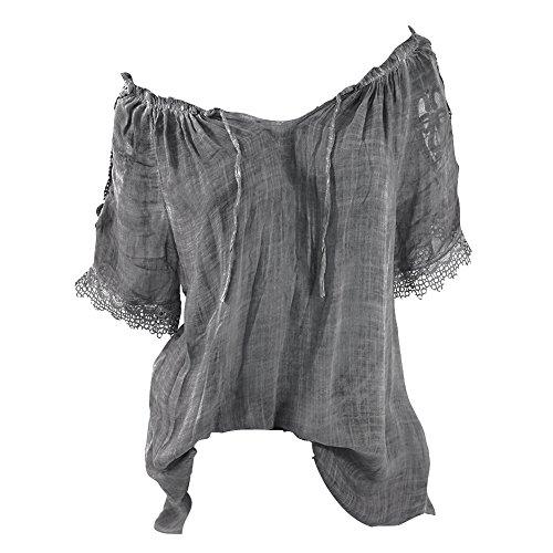 di Cucitura di di della Sexy Nuova Modo Cucitura di Camicie Collo Juleya Estate Allentate pi Donna Camicetta del di n47zIAqF
