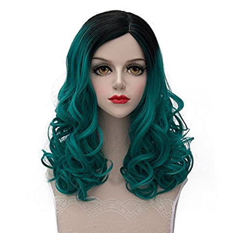 TopWigy Women's Cosplay Wig Medium Long Small Curly Heat Resistant Hair Wig Japan COS Anime Costume Party Wigs+Wig Cap 18