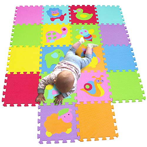 MQIAOHAM Children Puzzle mat Play mat Squares Play mat Tiles Baby mats for Floor Puzzle mat Soft Play mats Girl playmat Carpet Interlocking Foam Floor mats for Baby P011CS9G300918