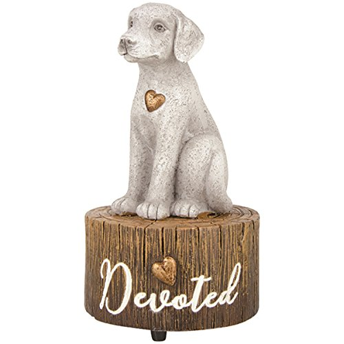 Hand Painted Resin Dog Musical Figurine, Plays My Favorite Things, 5 1/2 Inch