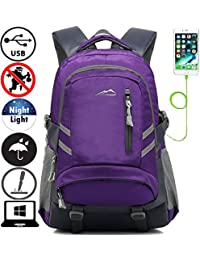 Backpack Bookbag For School College Student Travel Business with USB Charging Port