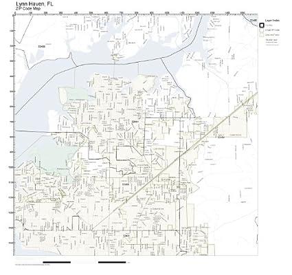 Lynn Zip Code Map.Amazon Com Zip Code Wall Map Of Lynn Haven Fl Zip Code Map Not