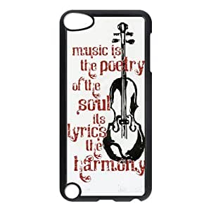 Ipod Touch 5 Cases Music Quotes,music is the Poetry of the Soul, Music [Black]
