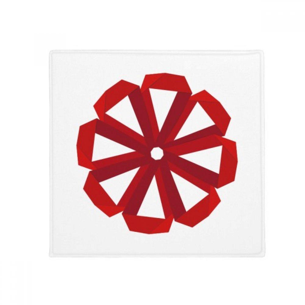 DIYthinker Red Abstract Christmas Flower Origami Anti-Slip Floor Pet Mat Square Home Kitchen Door 80Cm Gift