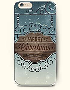 iPhone 6 Case,OOFIT iPhone 6 (4.7) Hard Case **NEW** Case with the Design of MERRY Christmas HAPPY NEW YEAR - ECO-Friendly Packaging - Case for Apple iPhone iPhone 6 (4.7) (2014) Verizon, AT&T Sprint, T-mobile
