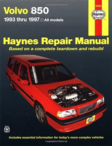 volvo 850 series 1993 thru 1997 haynes manuals ed scott john h rh amazon com Volvo 850R Wagon 93 Volvo 240