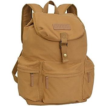 CADeN Canvas Vintage Camera Bag Backpack, Photography Lightweight Daypack Waterproof Anti-Theft 1 Camera 3 Lens Rucksack DSLR SLR Case Compatible for Nikon ...