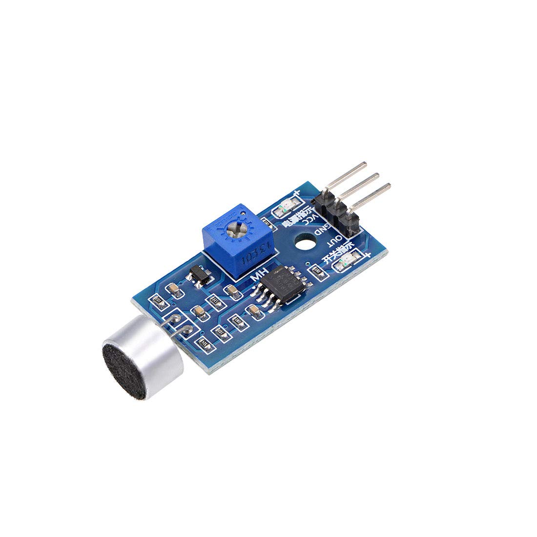 uxcell Microphone Sound Sensor Voice Detection Module with Digital Output for Arduino DIY Projects 5pcs