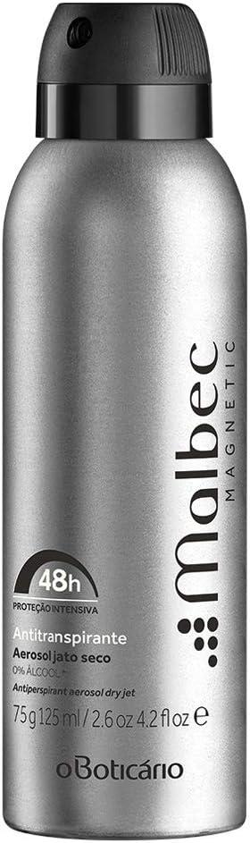 Malbec Magnetic Desodorante Antitranspirante Aerosol 75g - Malbec Magnetic Desodorante Antitranspirante 75g