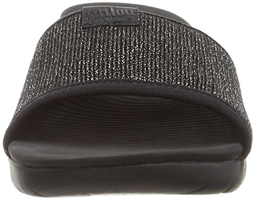 Multicolore metallizzato nero bronzo Toe Uberknit Sandals Fitflop 501 Slide Open FATnaq