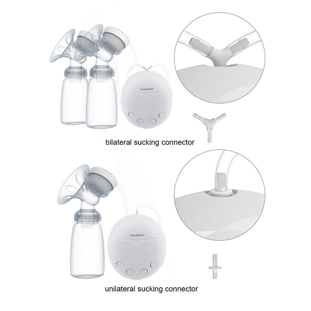 KidsTime Electric Breast Pump Double Breast Pump hands-Free Breastpump WITH 2 x Cold Heat Pad AND 2 x Nipple