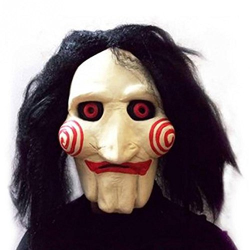 Saw Movie Jigsaw Puppet Mask Halloween Full Mask Head Latex Creepy Scary