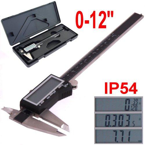 """iGaging EZ CAL IP54 0-12"""" Super Large LCD Display Digital Ca"""