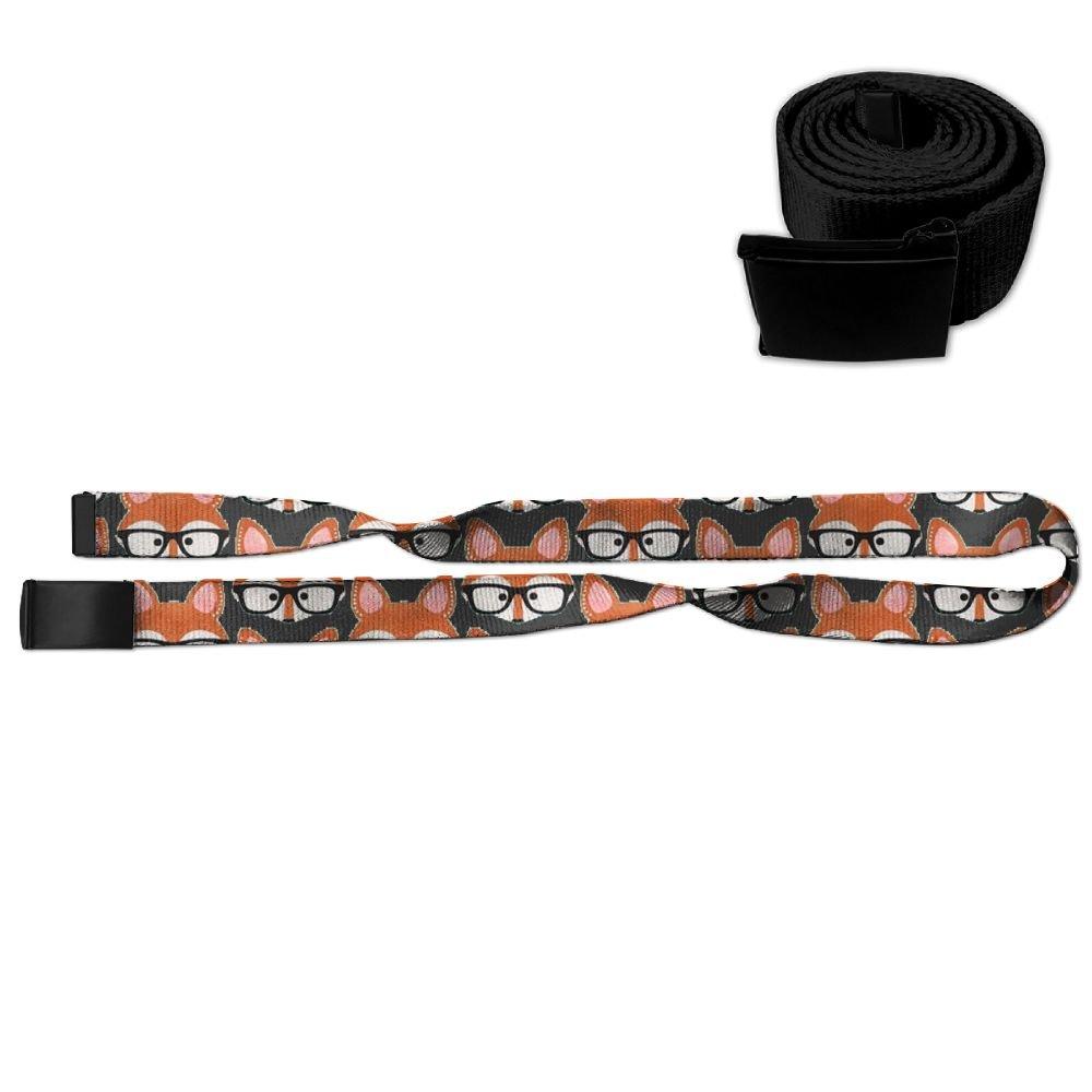 Cartoon Fox With Glasses Unisex Casual Printing Belt
