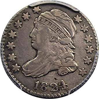 1824 P Bust Dimes 1824/2 Dime VF20 PCGS
