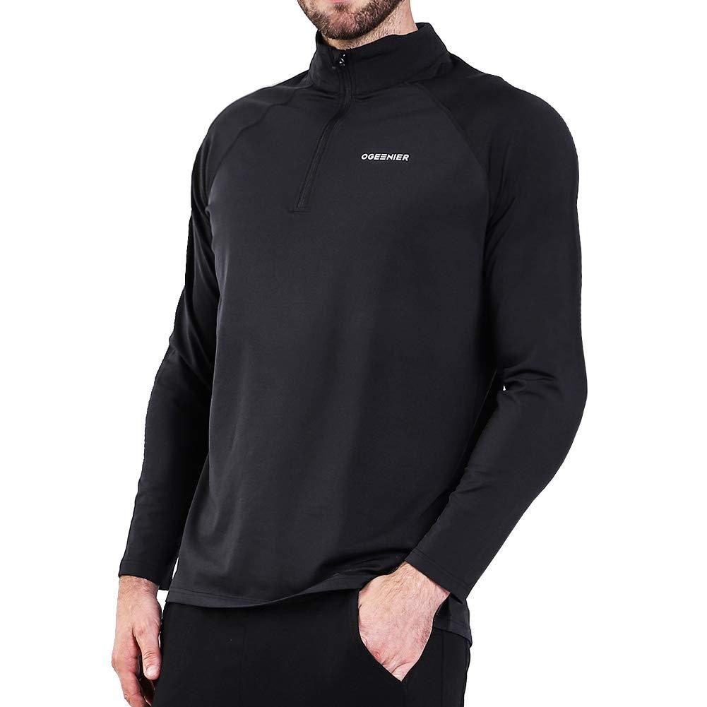 日本最大のブランド Ogeenier メンズ 1 1/4ジップ/4ジップ プルオーバー ランニングシャツ サーマル長袖シャツ トップス Ogeenier ブラック スウェットシャツ B07JX85X7H ブラック X-Large X-Large|ブラック, 練馬区:e02e3d9f --- arianechie.dominiotemporario.com