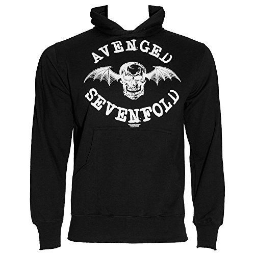 Avenged Sevenfold Wings (Avenged Sevenfold Men's Logo Long Sleeve Hoodie, Black, Large)