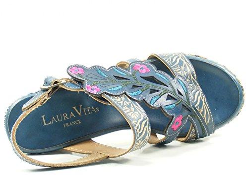 Laura Vita Belfort 87 - Sandalias con Punta Abierta Mujer Blau
