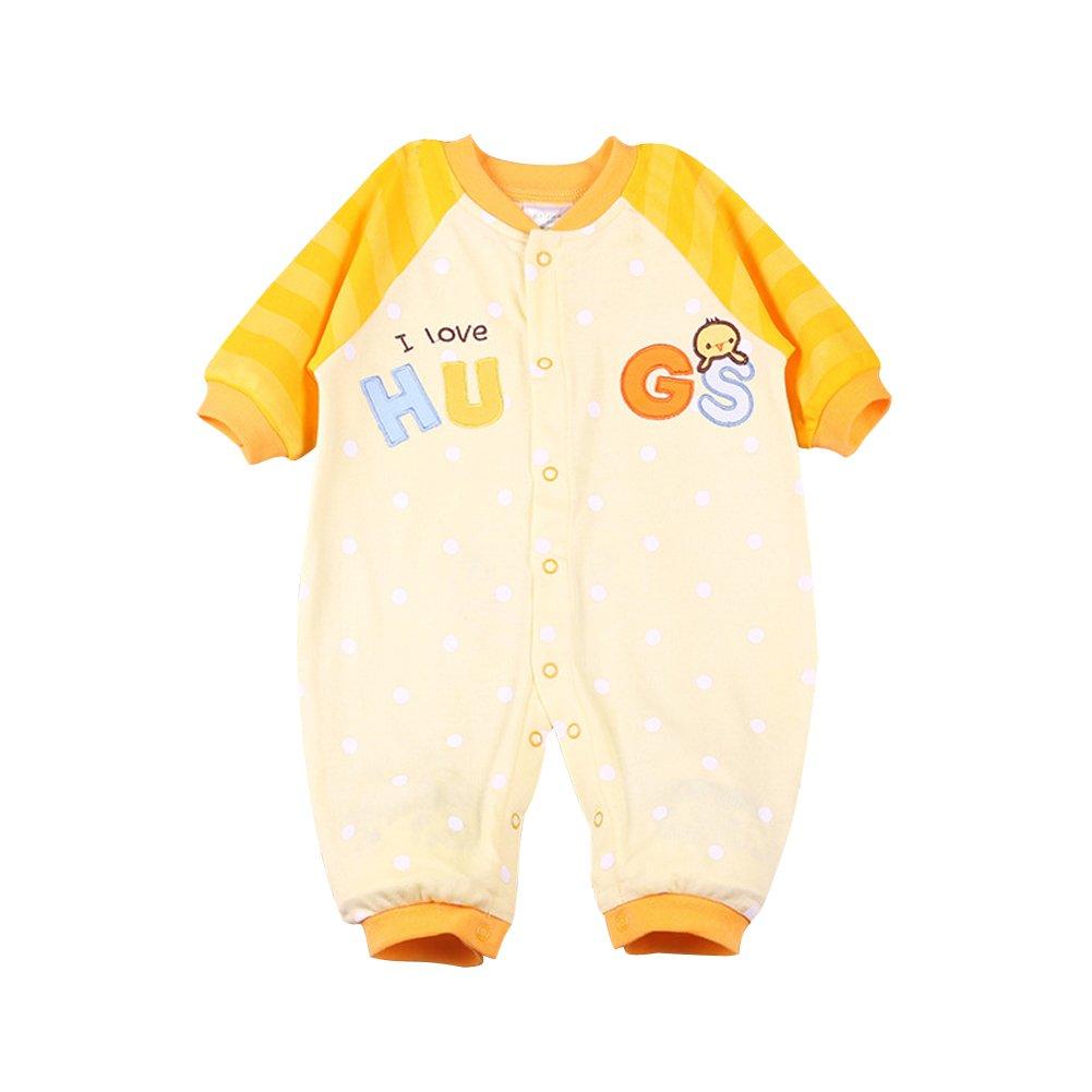 LSERVER Pyjama Bébé Fille Garçon Grenouillère Combinaisons en Coton Manches Longues Chaud B6024D 25D