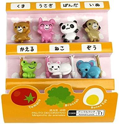 Cute japonés palillos para aperitivos para niños caja de Bento ...