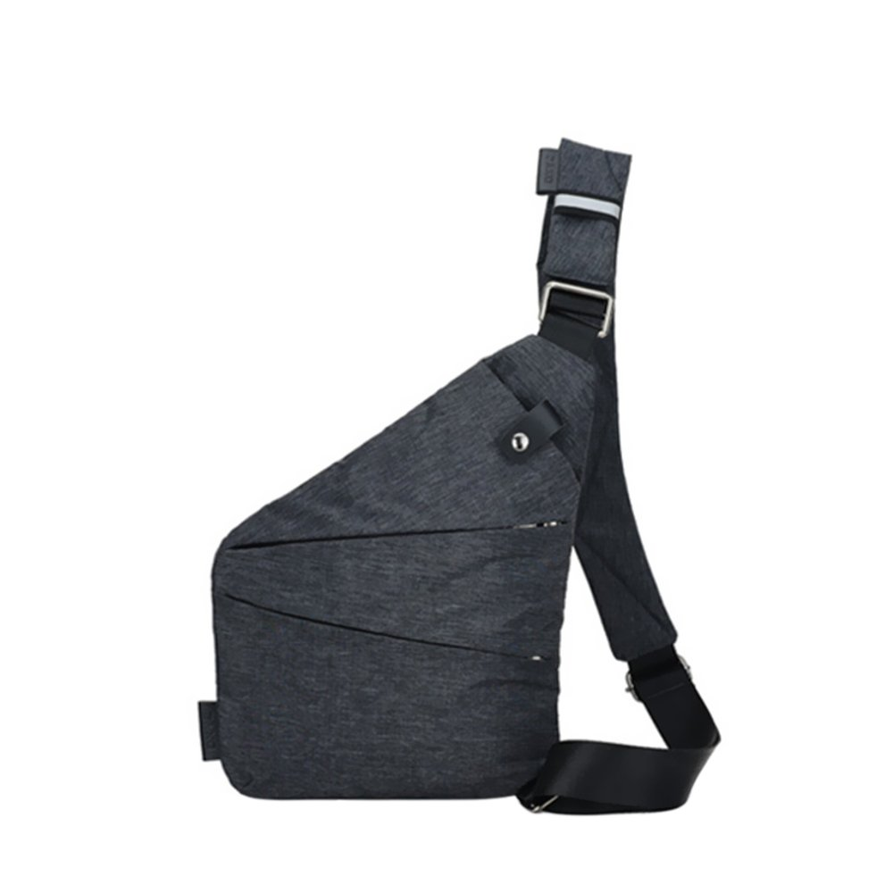 Walmeck Single Shoulder Bags Water-Resistant Crossbody Bags Male Messenger Chest Bag Large Capacity Burglary-Proof