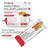 PhD Nutrition Protein Flapjack+ Bars, Forest Berries - Pack of 12 x 75g