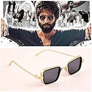 GAINX Square Metal Body Kabir Singh Sunglass for Men & Boy